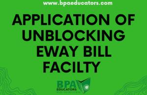 Unblocking E-Way Bill
