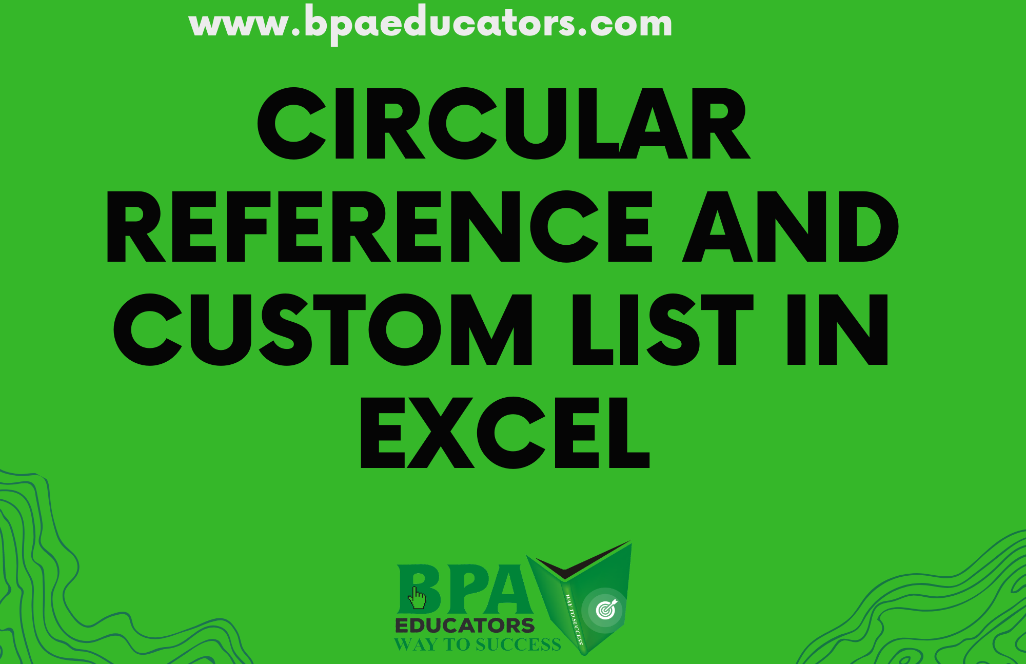 Excel Circular Reference