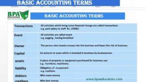 Basic Accounting Term