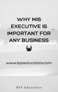 Why MIS Executive Is Important for Any Business