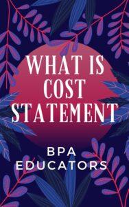 Cost Statement